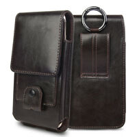 Genuine Leather Pouch Holster Case Vertical Belt Clip for iPhone 11 8 7 6 Plus X