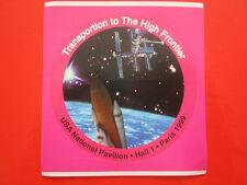 AUTOCOLLANT STICKER AUFKLEBER ESPACE SPACE TRANSPORTATION USA NASA SHUTTLE 1999