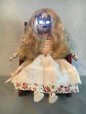 GOTHIC HORROR HAUNTED HALLOWEEN BRIGHT EYES CREEPY DOLL PROP OOAK BY JEWLFLOWER