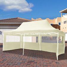 3x6m Faltpavillon Pavillon Klappzelt Gartenzelt Festzelt Partyzelt beige