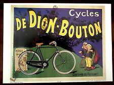 Affiche repro Cycles De Dion Bouton , velo parisien , Puteaux