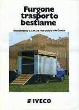 BROCHURE DEPLIANT IVECO FURGONE TRASPORTO BESTIAME C.F.M. FIAT DAILY OM GRINTA