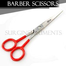 "SupErcut Scissors Barber Hair Shears Ice Tempered 6"" - Red Padded Finger Holes"