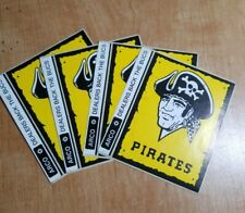 VINTAGE PITTSBURGH PIRATES BASBALL STICKER DECAL ARCO DEALERS BACK THE BUCS.