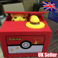Pokemon Pikachu Moving Electronic Coin Money Piggy Bank Savings Box Xmas Gift YP