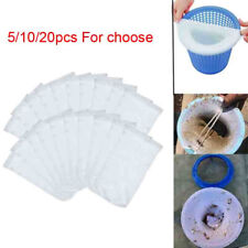5/10/20pc Mesh Screen Liner Skimmer Socks Filter Savers For Basket Swimming Pool
