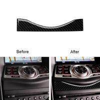 For Nissan 370Z 2009-2020 Carbon Fiber Multimedia Navigation Panel Cover Trim