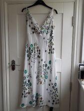 BNWT Gharani Strok Ladies Size 12 Pure Silk Cream Mix Fully Lined Dress