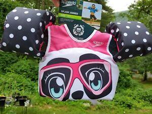 NEW Speedo Splash Jammer Panda Kids Life Jacket Swimming Vest FREE SHIPPING
