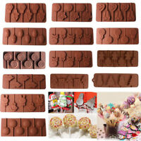 Silicone Lollipop Mould Tray Candy Chocolate Lollypop Sugarcraft Cake Decor Mold