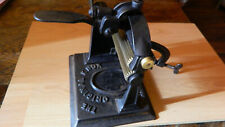Antique Original Knox Fluting Machine Cast Iron Crimper with Brass Rollers 1879