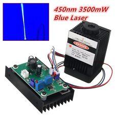 450nm 3500mW 3.5W módulo Láser Azul con modulación TTL Para Bricolaje láser de corte