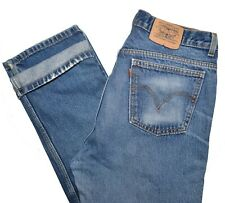 Levis Naturally Destroyed Worker Jeans Mens 34 x 30 Blue Orange Tab Distressed