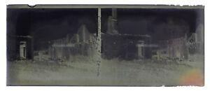 France Chatillon-Sur-Morin Guerre 14-18 WW1Photo NEGATIF P9n4 Stereo Plaque