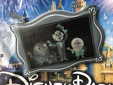 Disney Parks Haunted Mansion Hitchhiking Ghost Lenticular Clutch Zip Pouch Purse