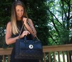 KATE SPADE Liberty Street Campbell Quilted Lizard Patent satchel Bag Purse BLACK
