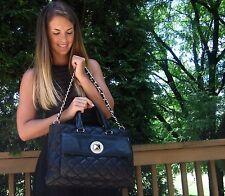 KATE SPADE Liberty Street Campbell Quilted Lizard Patent satchel Bag Purse BLACK