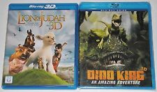 Kid Blu-ray 3D Lot - Lion of Judah in 3D (Used) Dino King 3D (New)