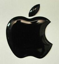 1pcs. 3D Black Domed Apple logo stickers for iPhone, iPad cover. Size 50x43 mm