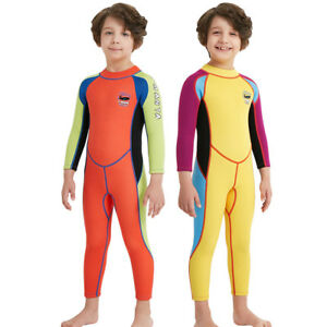 Children Kids 2.5MM One Piece Long Sleeve Diving Swimming Suit Wetsuit Boys Girl
