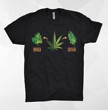 Marijuana T Shirt Indica Sativa 420 Smoke Weed Everyday Rasta Lion Reggae