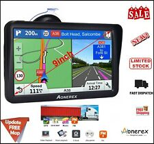 Truck Sat Nav, Aonerex 2019 Latest 9 inch With Sunshade GPS Navigation for HGV