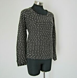 Quirky Circus Grey Spotted Jumper Size 12 M