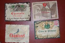 Lot Anciennes étiquettes de vin: vin de table vieilles voutes, chantarel etc...