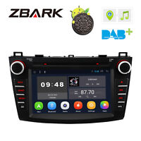 "8"" Android 8.1 Car DVD Player Radio GPS Bluetooth 4G WiFi For Mazda 3 2010-2013"