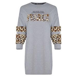 Ladies Night Dress Short Nightwear Pjs Pyjamas Leopard Print Womens Size 8-18