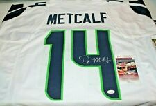 DK D.K. Metcalf Autographed Signed Seattle Seahawks White Jersey JSA