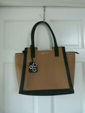 Kenneth Cole Reaction Handbag/Tote with Key Fob - Cognac with Black trim