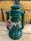 GENUINE NEW FEUERHAND GREEN 276 BABY SPECIAL HURRICANE STORM LAMP PARAFFIN