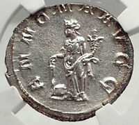 PHILIP I the Arab Authentic Ancient 244AD ;Silver Roman Coin w ANNONA NGC i73034