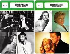 FICHE CINEMA x2 : DOROTHY MALONE DE 1943 A 1986 -  USA (Biographie/Filmographie)