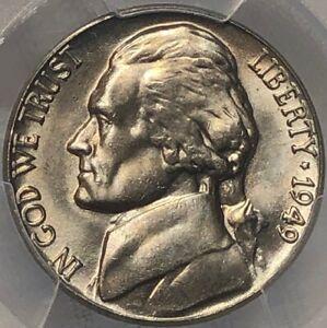 1949 P PCGS MS65 Jefferson Nickel 5c ~ Better Date BU Gem Nickel