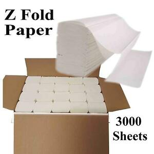 Z Fold Soft Hand Paper Towel 2ply interfold Disposable Luxury PAPER White 3000