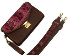 handbag clutch huipil leather gift rose handmade accessories luxury style strap