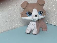 Littlest Pet Shop Collie Puppy Dog LPS #67 Grey and White Collie Dog USA Seller