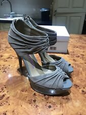 SIZE 8 EU 41 GREY SUEDE PLATFORM SHOES HEAD OVER HEELS COST £75 NEVER WORN BOXED