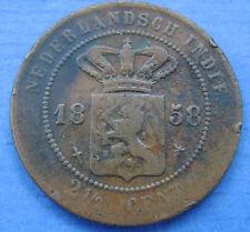 Nederlands Indie - 2 1/2 cent 1858 KM# 308