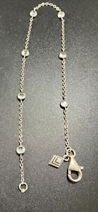 SILPADA 925 Chain Link Anklet Infinity CZ Clear Round Spacers Rare Find