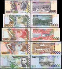 St. Thomas & Prince 5,000 to 100,000 Dobras, 2004-2010,P-65 to P-69,UNC,Full Set