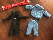 Vintage BARBIE/Francie Handmade Knitted Boat Outfit & Scarf  60s 70s LOOK!
