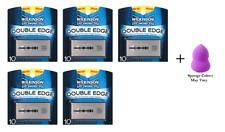 Wilkinson Double Edge Stainless Steel Razor Blades 10 ct (5 Pk) + Makeup Sponge