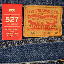 Levis 527 Jeans Mens New Slim Boot Cut Size 36 x 32 BEBOP (DK BLUE) Levi's #238