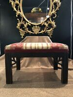 Antique Circa 1920 Chippendale Style Foot Stool Colonial Furniture Company
