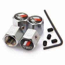 Juego de cuatro tapones de v/álvula de neum/ático de metal cromado plateado DustCap.