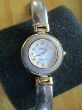 Ecclissi Sterling Silver Case Band Watch 2 Tone New Battery!
