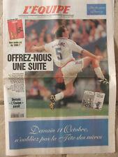 L'Equipe du 10/10/1998 - Foot avant Russie-France -